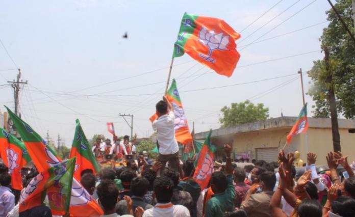 BJP holds mega rally in Telangana