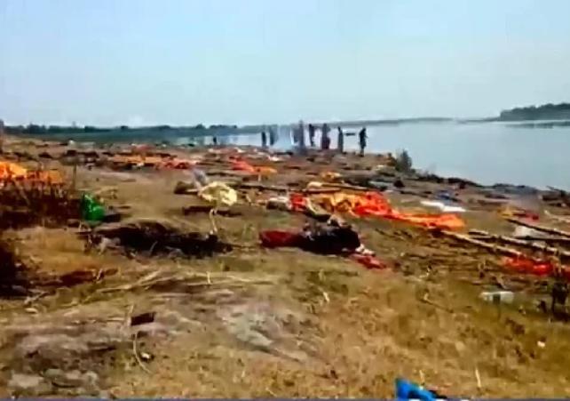 dead bodies Ganges river