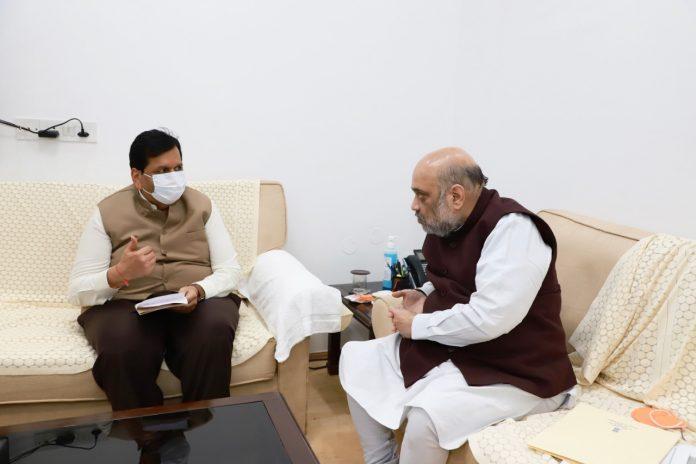 Mumbai BJP Chief Mangal Prabhat Lodha and Amit Shah