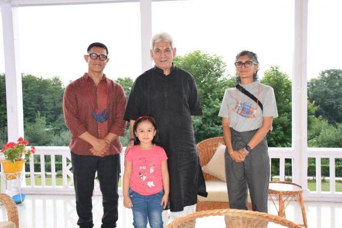 Aamir Khan, Kiran Rao meet Jammu and Kashmir Lieutenant Governor Manoj Sinha
