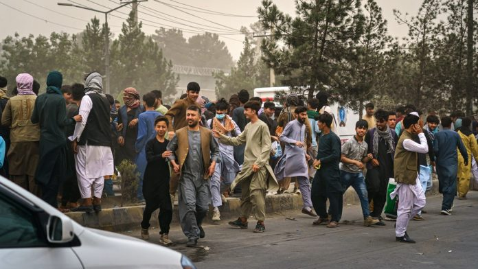 Taliban fighters on Thursday opened fire at the protestors