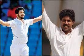 Kapil Dev and Jasprit Bumrah