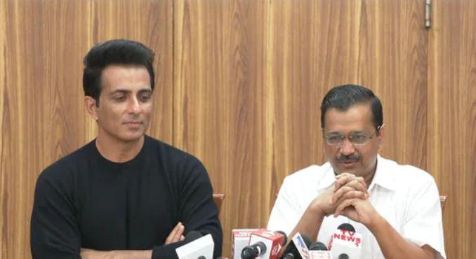 Sonu Sood and Arvind Kejriwal