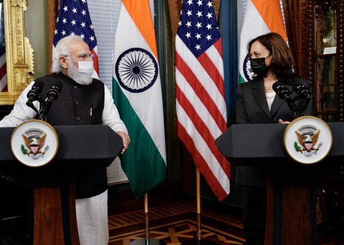 PM Modi meets US Vice President Kamala Harris