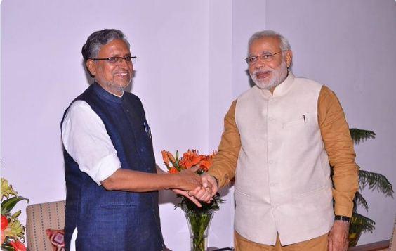 Sushil Modi and Narendra Modi