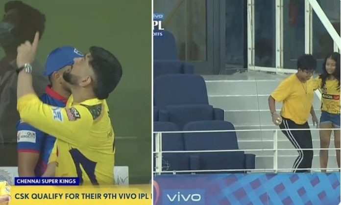 MS Dhoni gifts signed ball to young CSK fan