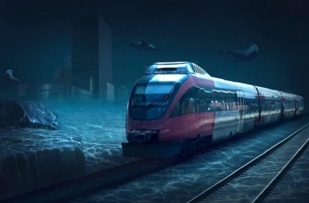 bullet train in water
