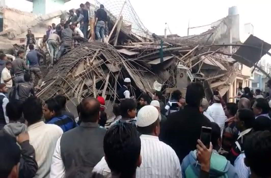Demolished building in Kanpur