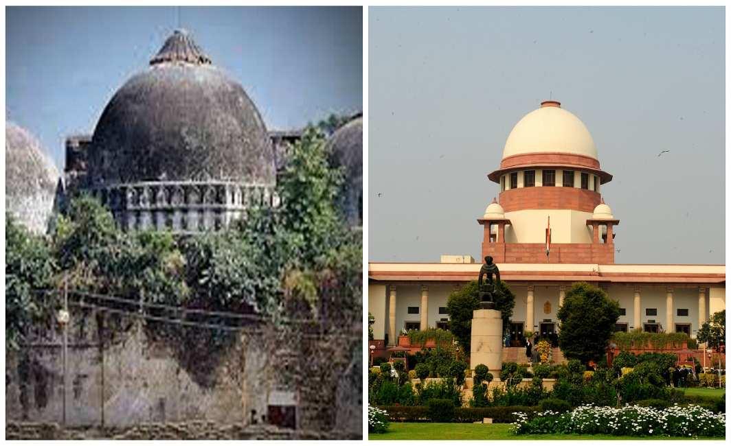 (L-R) Babri Masjid; Supreme Court