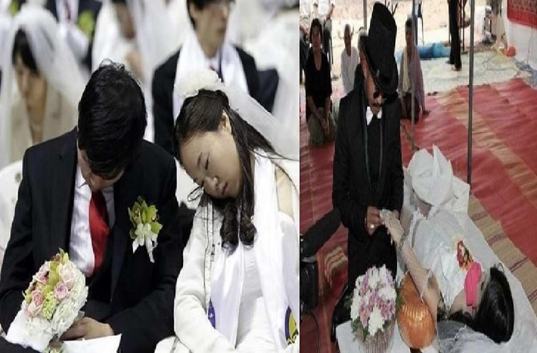 Where Marriages happens with dead bodies