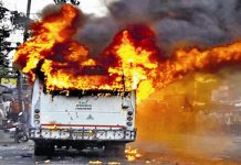8 killed, more than 20 injured in bus fire in Nalanda of Bihar