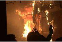 Delhi -Dangerous fire in Chandni Chowk area, Burn hundreds of shops