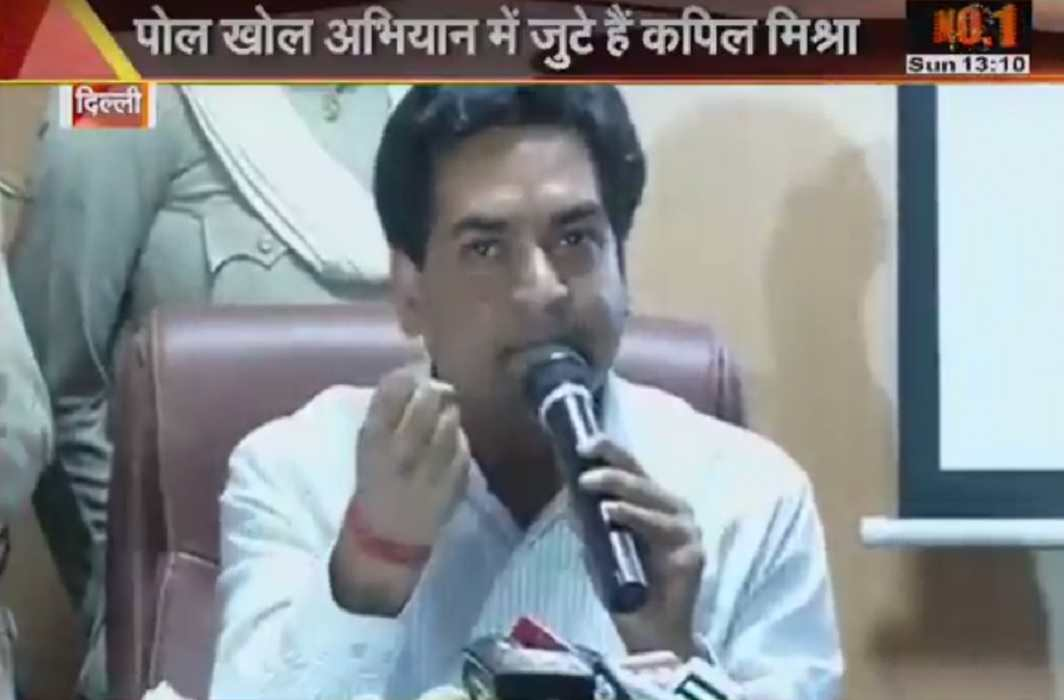 Kapil Mishra said before being unconscious- it is clear from the evidence that Kejriwal is corrupt,