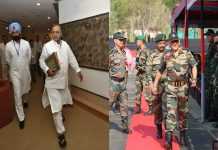 Defense Minister Jaitley arrives in Srinagar on a two-day visit, army chief is already present