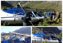 Helicopter accident in Badrinath
