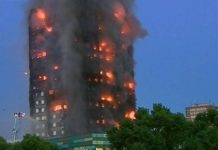 Fire in London's 27-storey building , Hundreds of people are trapped in the building
