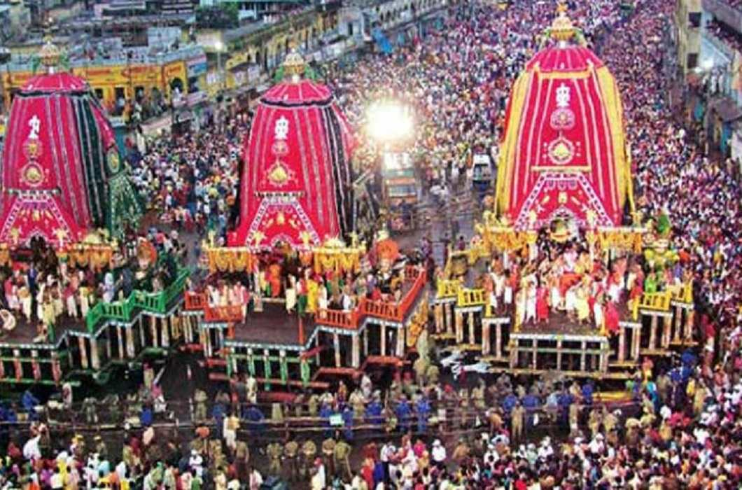 Celebration of Lord Jagannath's Rath Yatra in Jagannath Puri