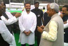 Nitish Kumar meets Rahul Gandhi