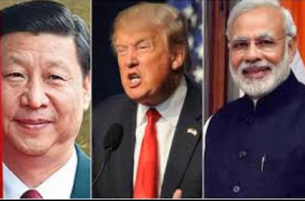 America between india and china