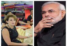 Finally, the American ambassador got his favorite sarees