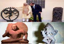 Modi buddha and ancient paintings