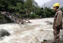 Cloud burst in Pithoragarh 4 dead and 7 missing