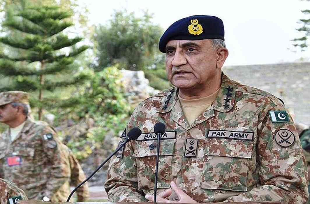 Pak army chief said kashmir issue solution should be in peaceful manner