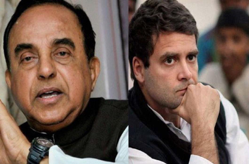 Subramanian Swamy & Rahul Gandhi