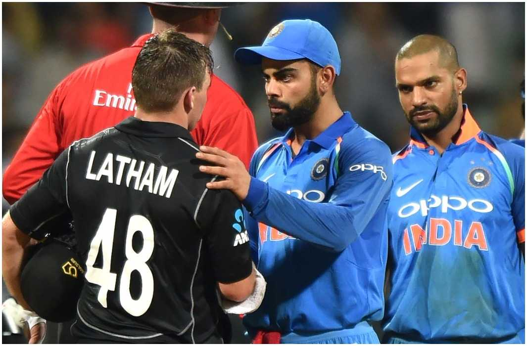 new zealand beat india by 6 wickets and many record broken by century of kohli