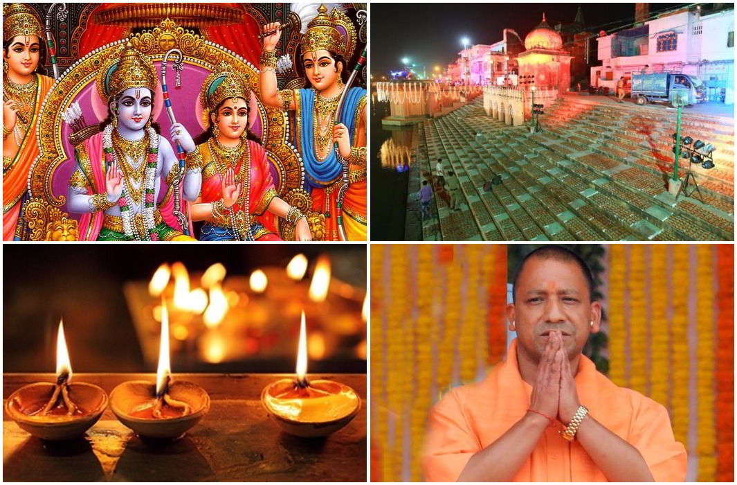 Ayodhya's grand Diwali today,Sareyu Ghat will shine with millions of diya