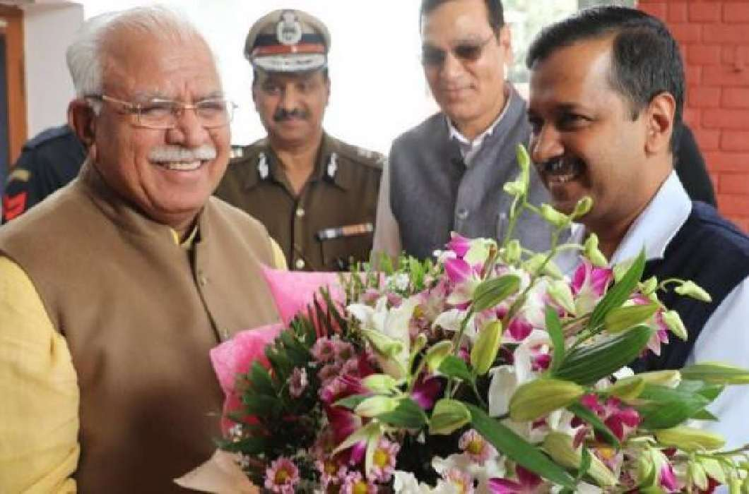 Kejriwal and Khattar's meeting and Assurance of working together on pollution