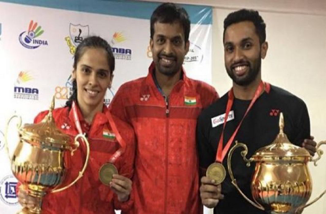 Saina Nehwal has beaten PV Sindhu and Won the national championship, Prannoy has capture place on the men's singles trophy