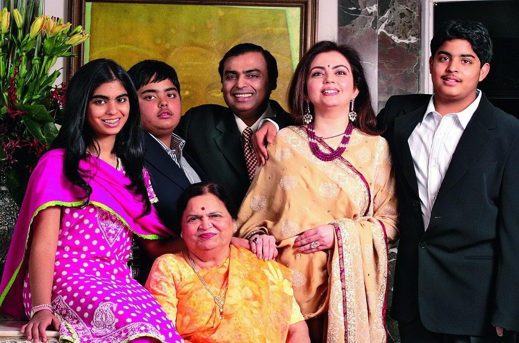 Mukesh Ambani Family