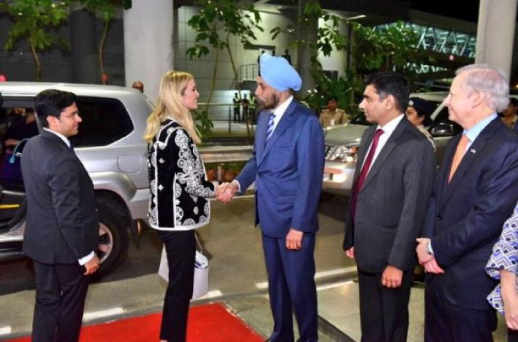 GES 2017:Ivanka Trump arrives india ,PM Modi will inaugurate