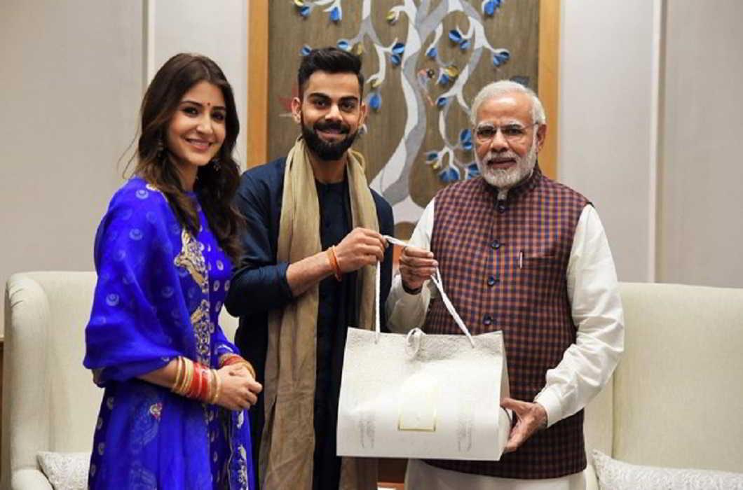 virat anushka invites PM Modi