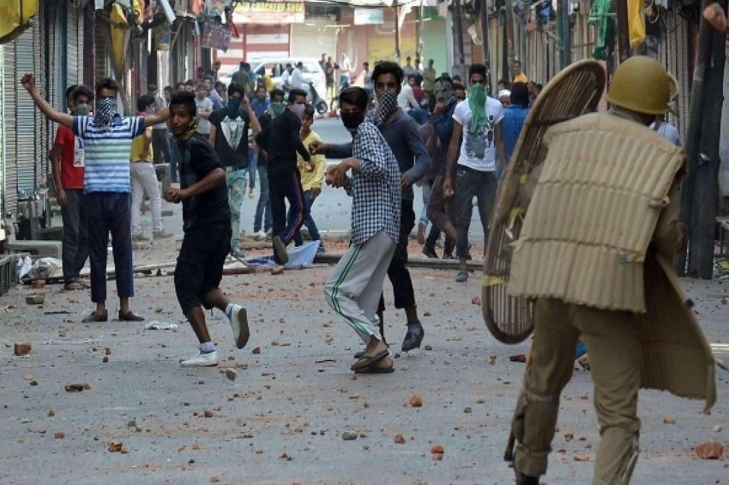 There has been less than half of the stone-rattling incidents in Kashmir since last year