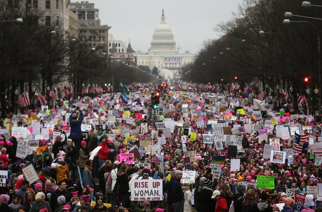 American Women has Done march against Donald Trump