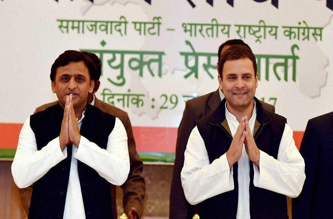 Akhilesh Yadav & Rahul Gandhi