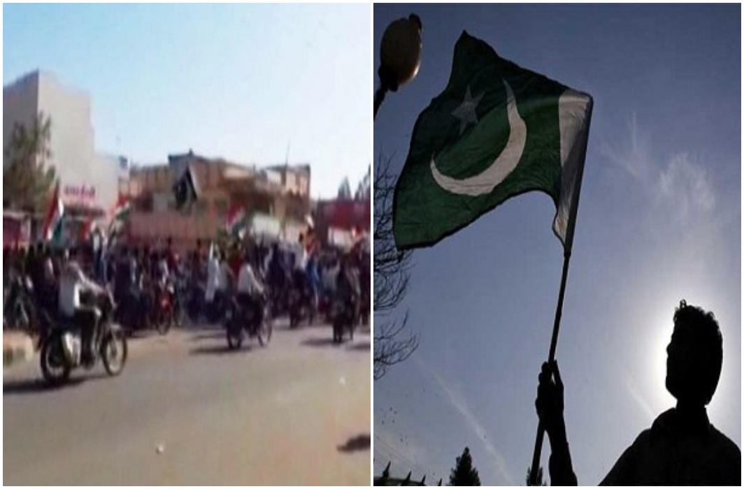 Pakistani flag in the rally of minorities triggered an uproar