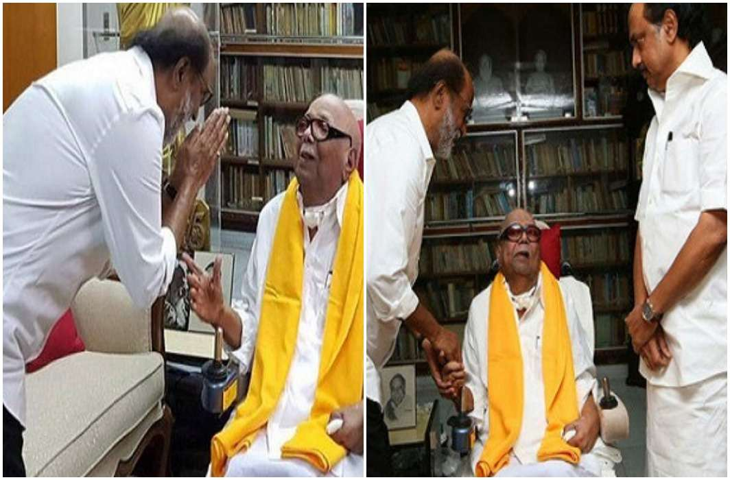 Superstar Rajnikant reached to M Karunanidhi's house and started politics