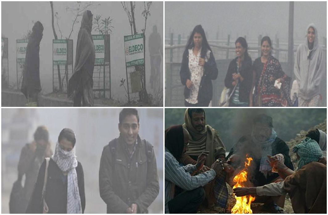 People shocked by cold in Delhi-NCR Somewhere there is fog, there is smoke