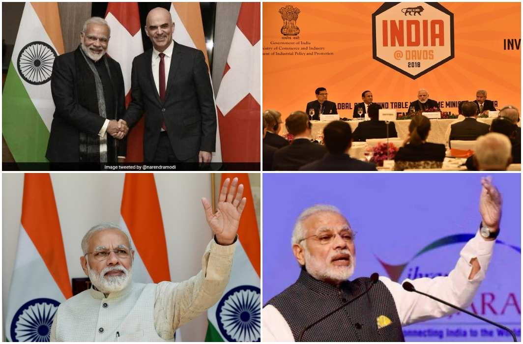 PM inaugurated the speech in the World Economic Forum today, meeting with CEOs