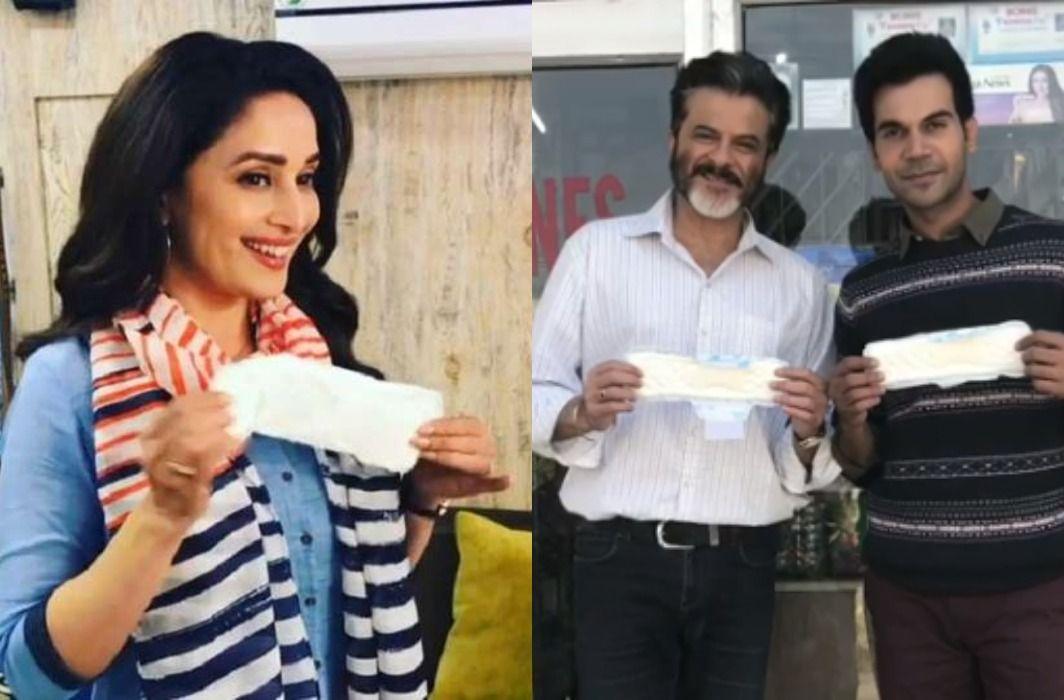 Madhuri Dixit has gives Padman Challenge to Akshay