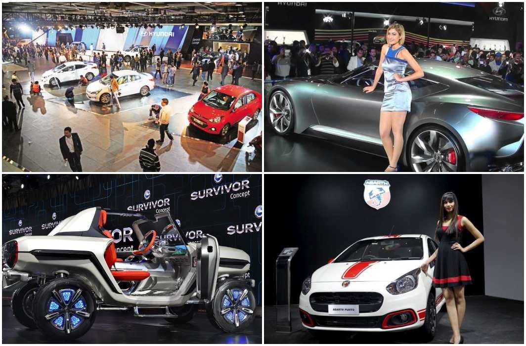 Modern cars and bikes fair at the Auto Expo 2018