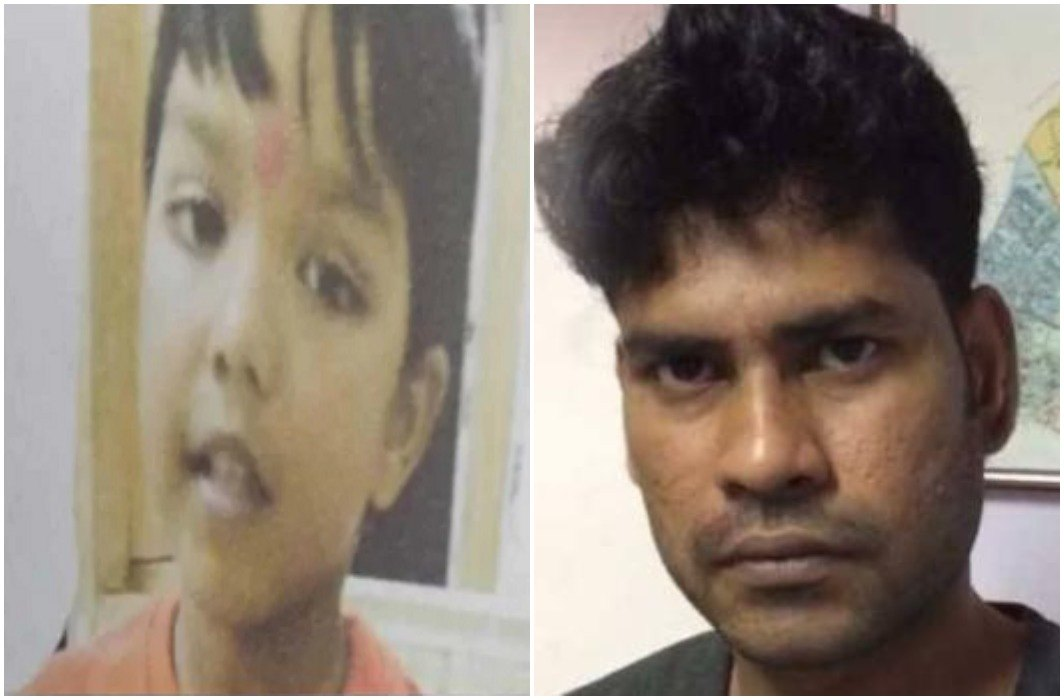 Harmony with 7 years old child, deadbody in suitcase after murder from 38 days