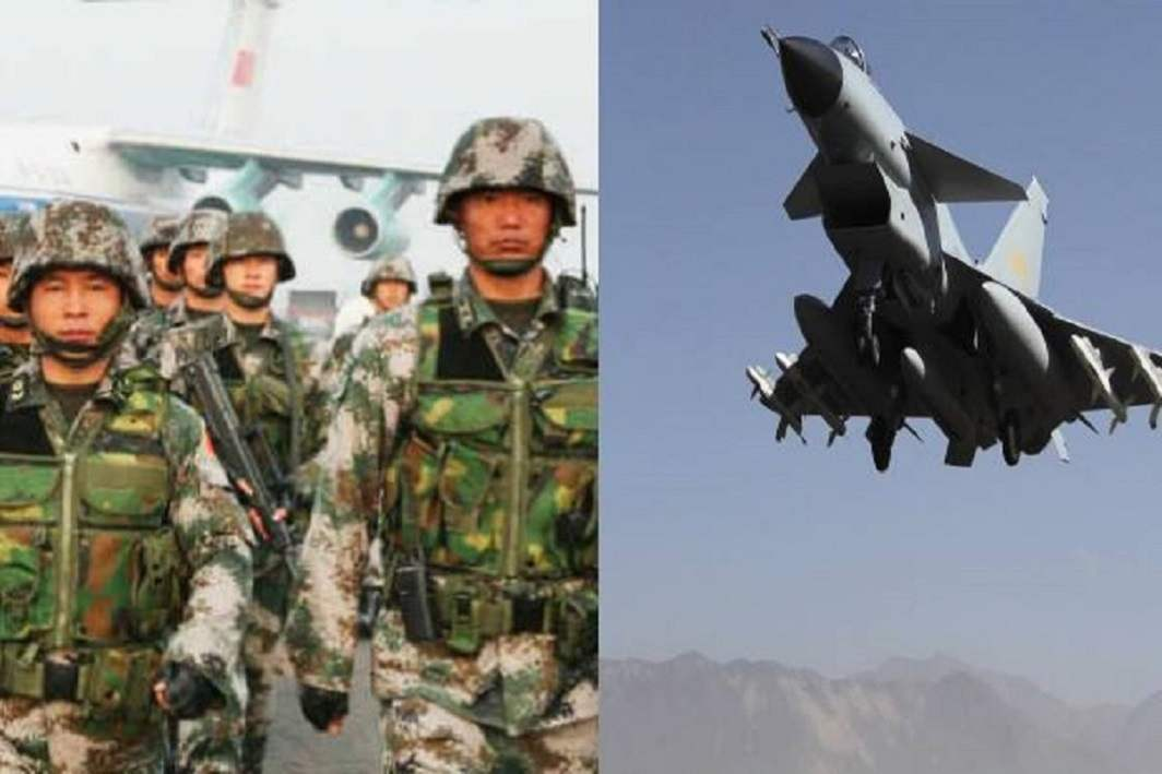 China has deployed its fighter jets and navy warships on the Tibet border