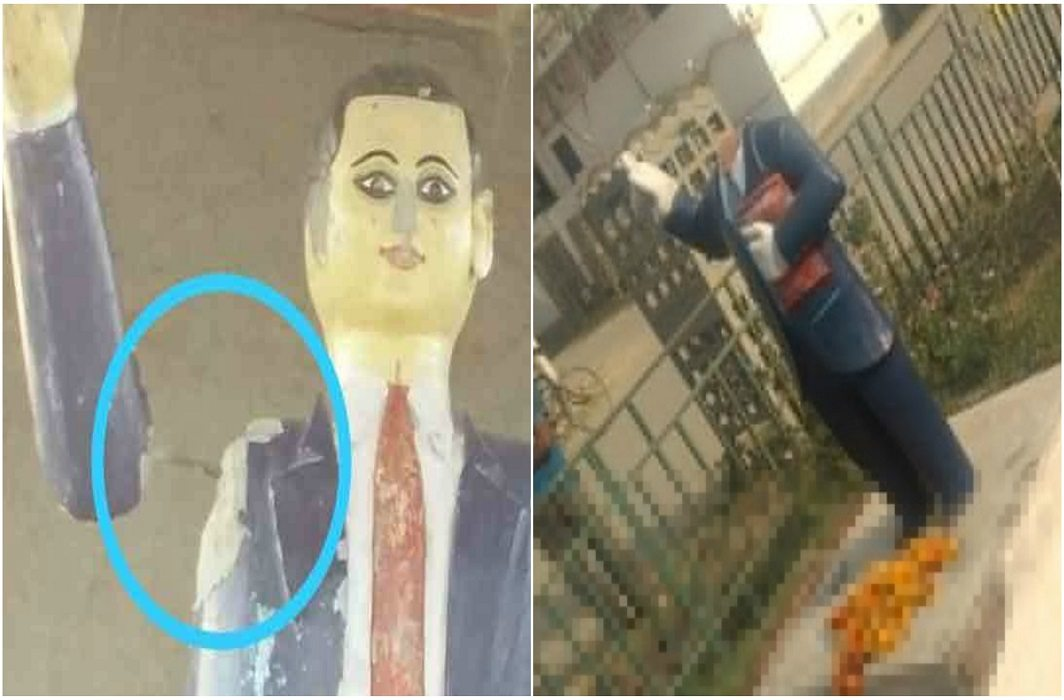Statue of Baba Saheb broke in Jhansi and Siddhartha Nagar late night in UP