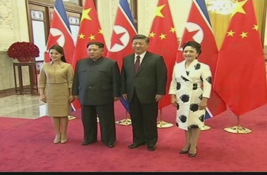 Kim on the first visit to China