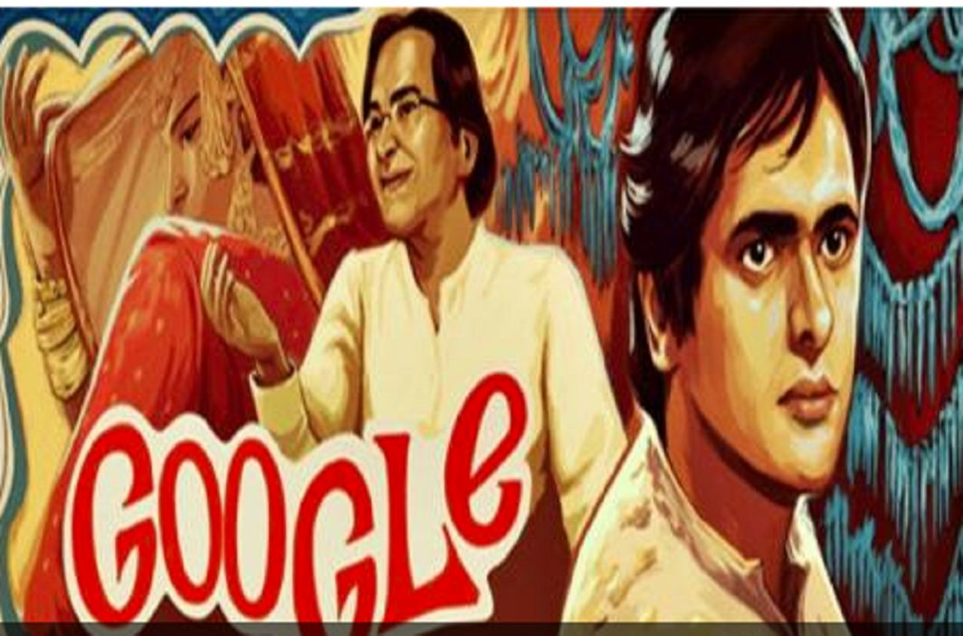 Google made a doodle on the 70th birthday of Farooq Sheikh
