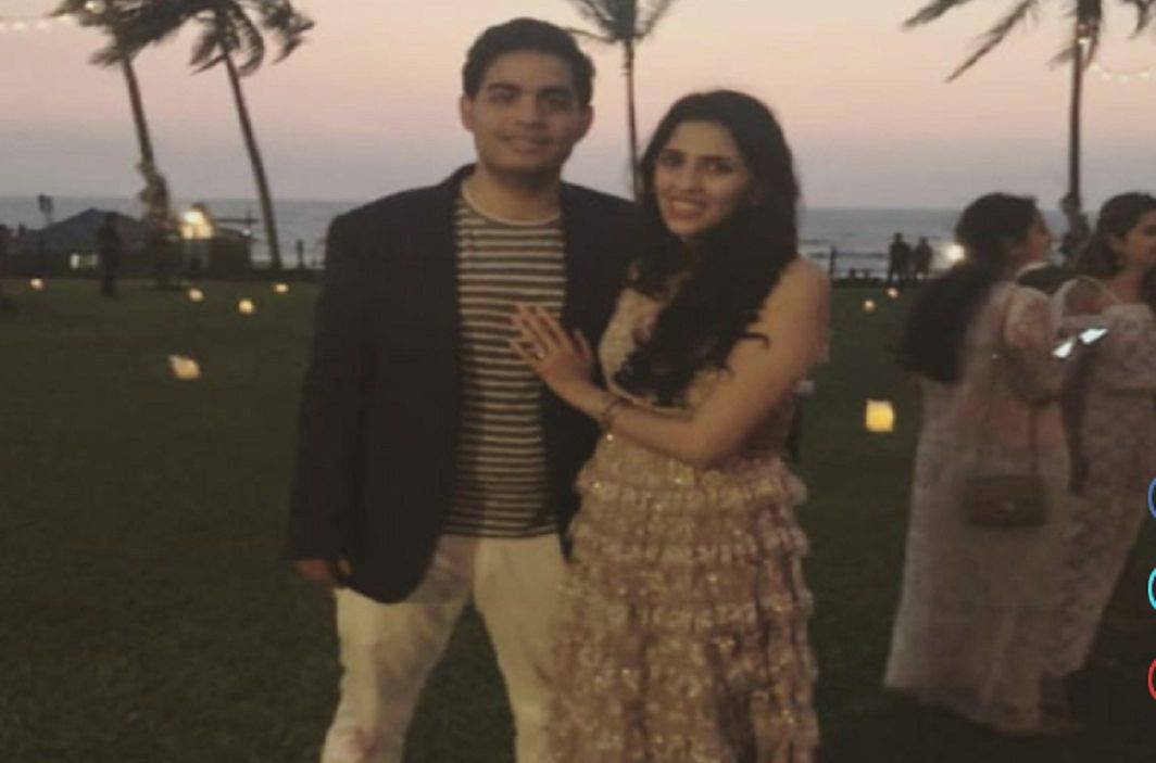 Pre-Engagement Ceremony of Akash Ambani with his schoolmate shloka. Pictures viral